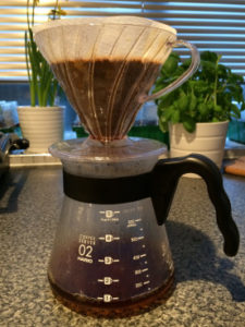 V60 pour-over at home