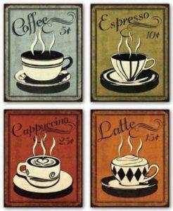 sign coffee vintage