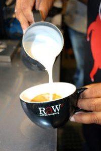 Raw coffee cup