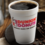 Dunkin' Donuts coffe cup and beans copertina