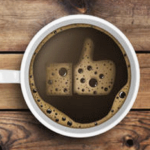 Social media page for coffee shop