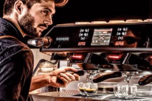 Intergastra barista with digital machine