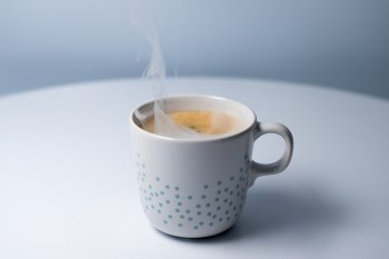 hot cup with steam